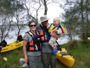 About Us: Lazy Paddles owners Jessica and Darren and their daughter Isla