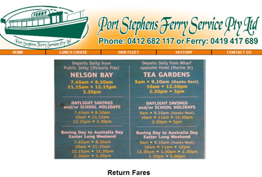 Port Stephens Ferry Service